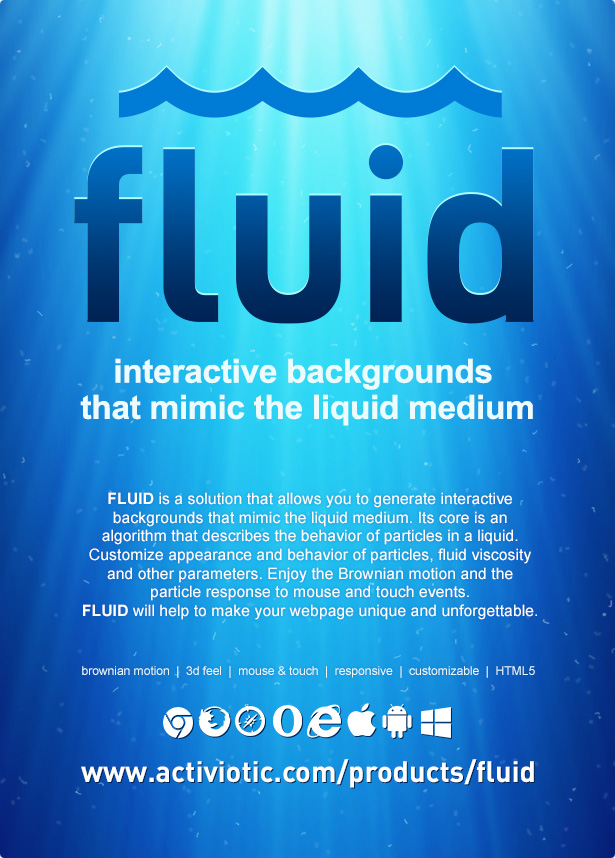 Fluid | Interactive Animated Backgrounds - 4